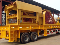 The mobile crusher ready for shipping